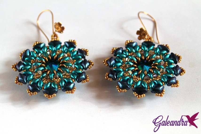 Another view of the gemduos and superduos earrings